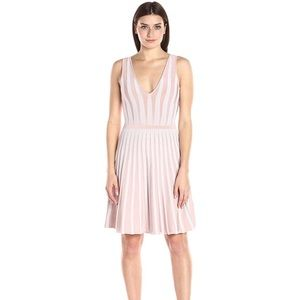 GUESS MIRAGE STRIPED FIT FLARE DRESS